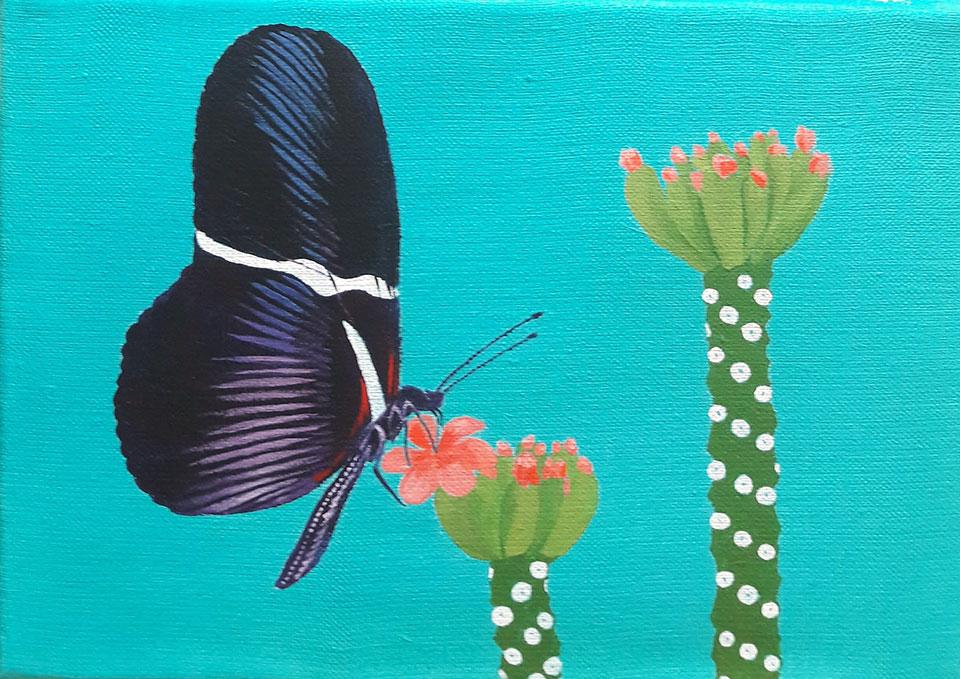 Papillon Greta - en cours de réalisation - Anne Kervarec