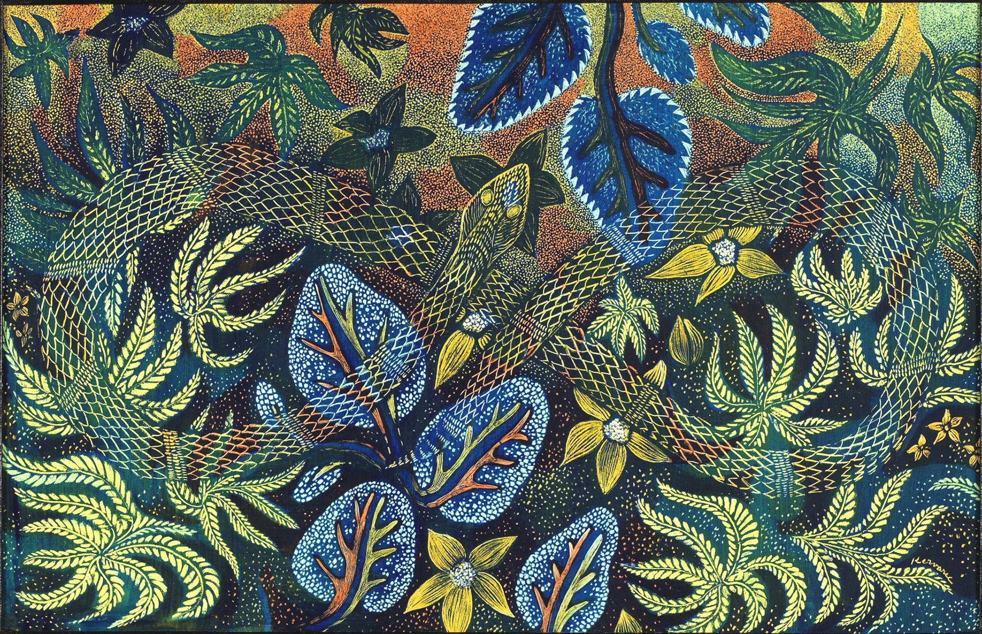 Serpent infini, Anne Kervarec artiste peintre Nantes