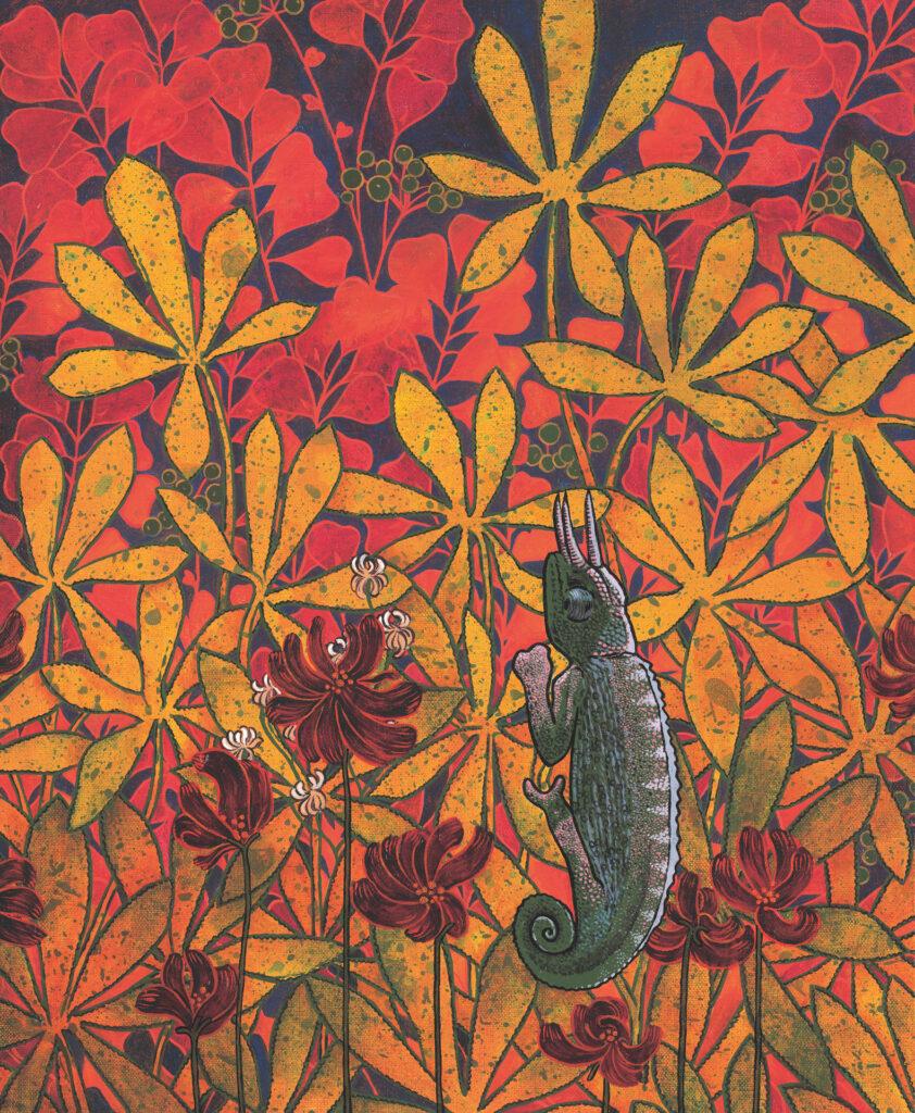 Le cornu, tableau entier, Anne Kervarec artiste peintre